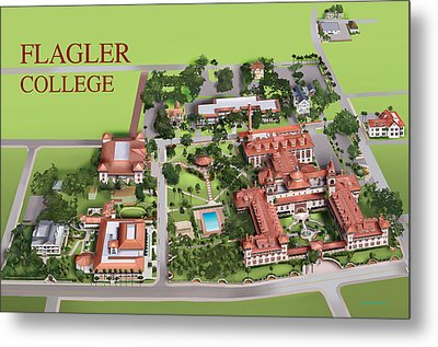 Flagler College Metal Print by Rhett and Sherry  Erb
