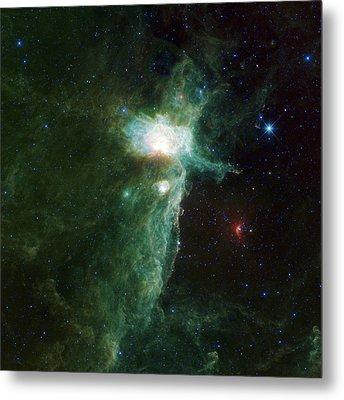 Flame Nebula Metal Print by Adam Romanowicz