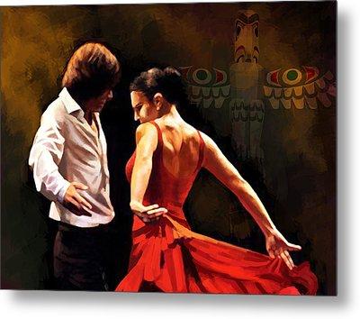 Flamenco Dancer 012 Metal Print by Catf