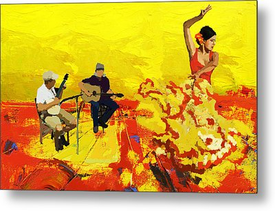 Flamenco Dancer 018 Metal Print by Catf