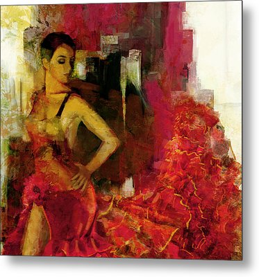 Flamenco Dancer 024 Metal Print by Catf
