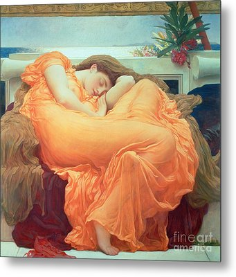 Flaming June Metal Print by Frederic Leighton