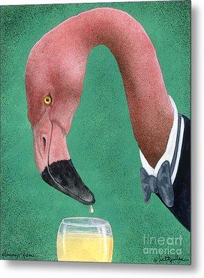 Flamingo Fume... Metal Print by Will Bullas