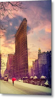 Flatiron Winter Metal Print by Jessica Jenney