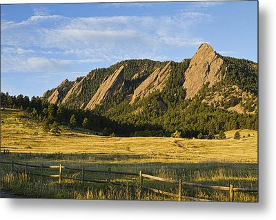 Flatirons From Chautauqua Park Metal Print by James BO  Insogna