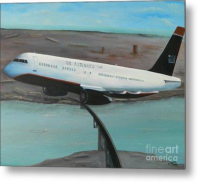 Flight 1549 Metal Print by Kenneth Harris