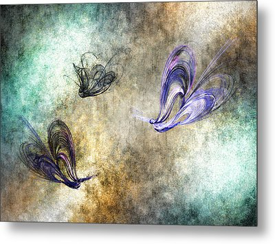 Flight Of The Butterfly Metal Print by Sharon Lisa Clarke