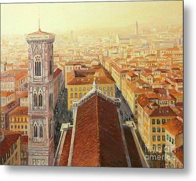 Flight Over Florence Metal Print by Kiril Stanchev