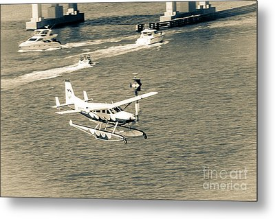 Flight- Landing In The Bay Metal Print by Rene Triay Photography