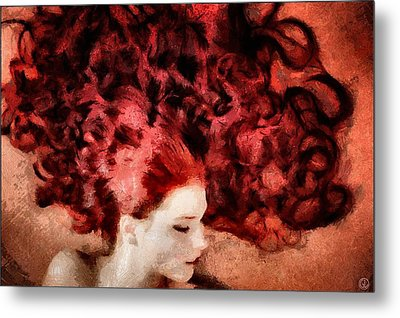 Floating Red Metal Print by Gun Legler
