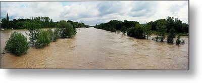 Flooding On The River Thur Metal Print by Michael Szoenyi