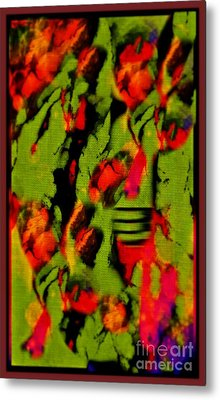 Floral Arrrangement Abstract Metal Print by John Malone