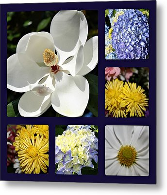 Floral Collage Metal Print by Carolyn Ricks