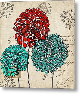Floral Delight Iv Metal Print by Lourry Legarde