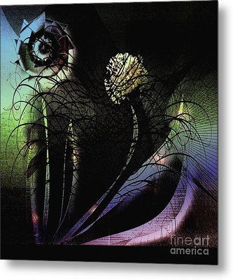 Floral Fever Metal Print by Iris Gelbart