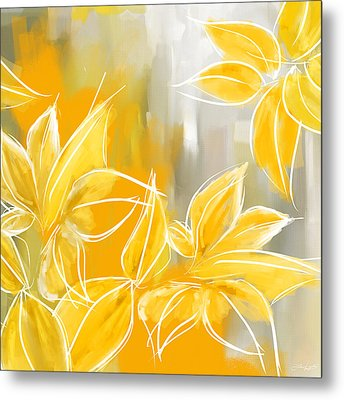 Floral Glow Metal Print by Lourry Legarde