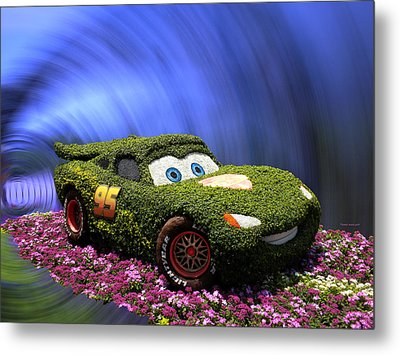 Floral Lightning Mcqueen Metal Print by Thomas Woolworth