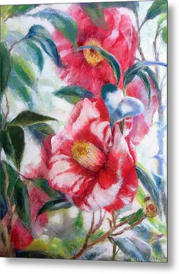 Floral Print Metal Print by Nancy Stutes