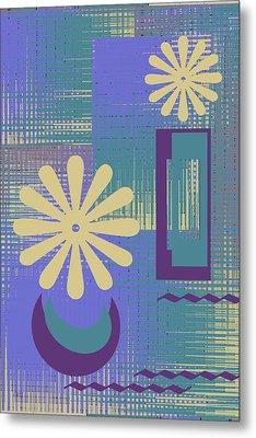Floral Still Life In Purple Metal Print by Ben and Raisa Gertsberg
