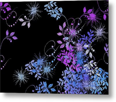 Floralities - 02a Metal Print by Variance Collections