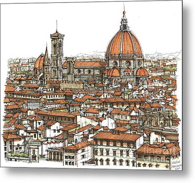 Florence In Colour Metal Print by Adendorff Design