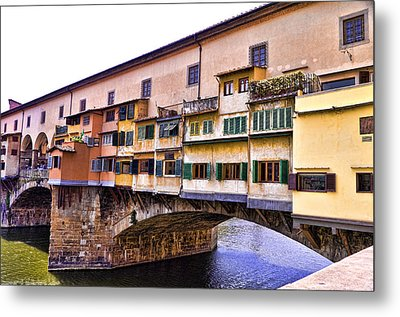 Florence Italy Ponte Vecchio Metal Print by Jon Berghoff