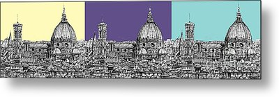 Florence's Duomo In Pastels Metal Print by Adendorff Design