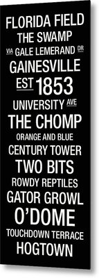 Florida College Town Wall Art Metal Print by Replay Photos