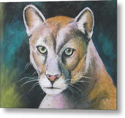 Florida Panther Metal Print by Melinda Saminski