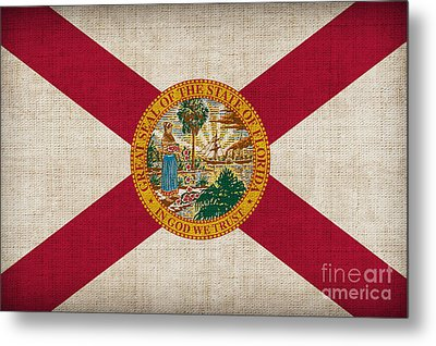Florida State Flag Metal Print by Pixel Chimp