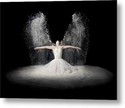 Flour Wings Metal Print by Pauline Pentony Ba