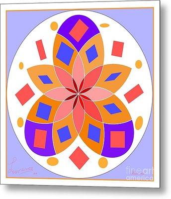 Flower 144d Metal Print by Lawrence Nusbaum