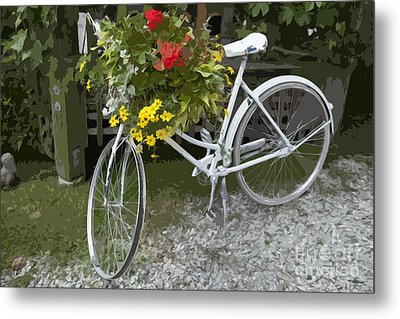 Flower Bike Metal Print by Graham Foulkes