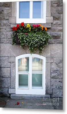 Flower Box Old Quebec City Metal Print by Edward Fielding