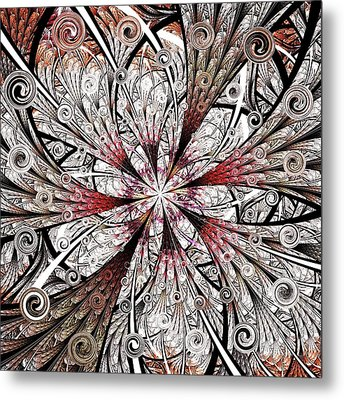 Flower Carving Metal Print by Anastasiya Malakhova