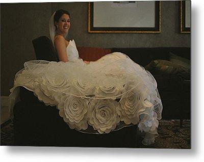 Flower Dress Bride Metal Print by Mike Hope