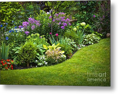 Flower Garden Metal Print by Elena Elisseeva