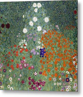 Flower Garden Metal Print by Gustav Klimt