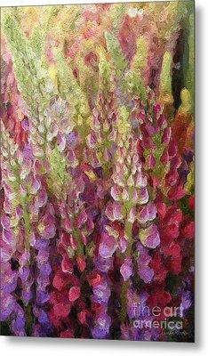 Flower Garden Metal Print by Linda Woods
