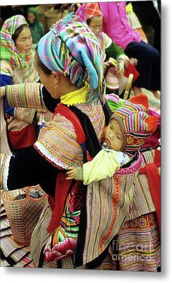 Flower Hmong Baby 03 Metal Print by Rick Piper Photography