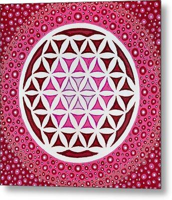 Flower Of Life Metal Print by Christopher Sheehan