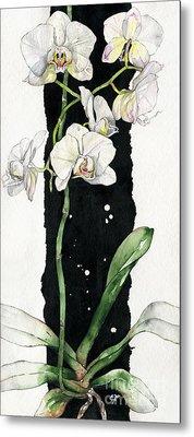 Flower Orchid 05 Elena Yakubovich Metal Print by Elena Yakubovich