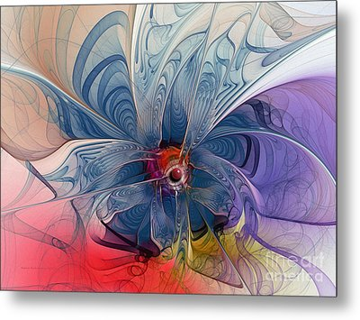 Flower Power-fractal Art Metal Print by Karin Kuhlmann