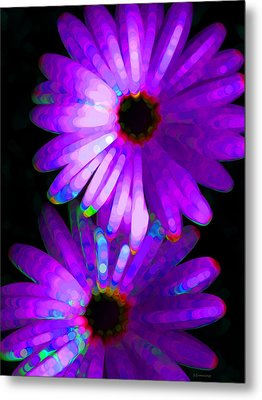 Flower Study 6 - Vibrant Purple By Sharon Cummings Metal Print by Sharon Cummings