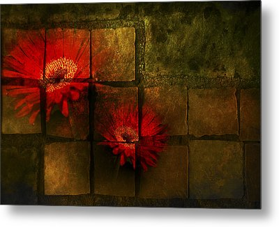 Flower Tiles Metal Print by Michael Huddleston