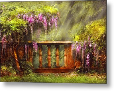 Flower - Wisteria - A Lovers View Metal Print by Mike Savad