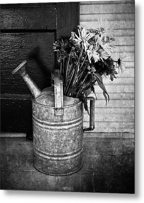 Flowers At The Door  Metal Print by JC Photography and Art