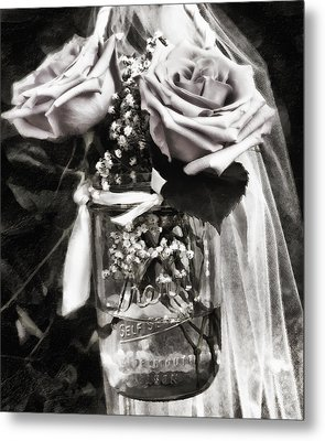 Flowers At The Wedding Metal Print by Ron Regalado