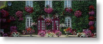 Flowers Breton Home Brittany France Metal Print by Panoramic Images