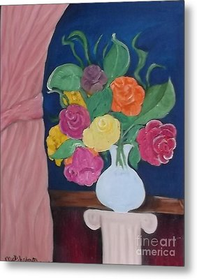 Flowers For Madear Metal Print by Mildred Chatman